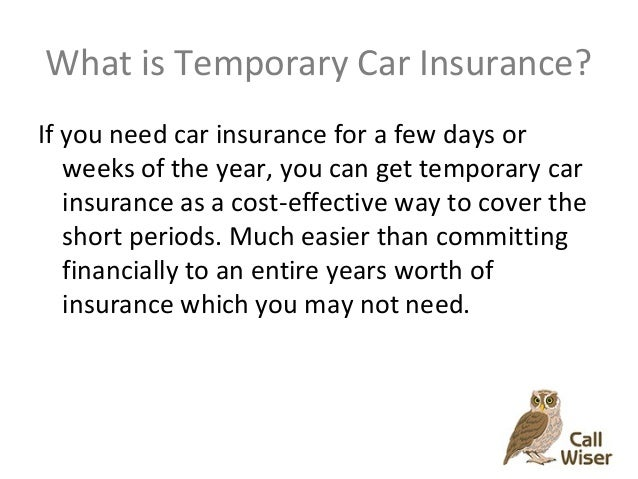 Be Wiser Car Insurance >> Temporary Car Insurance Call Wiser