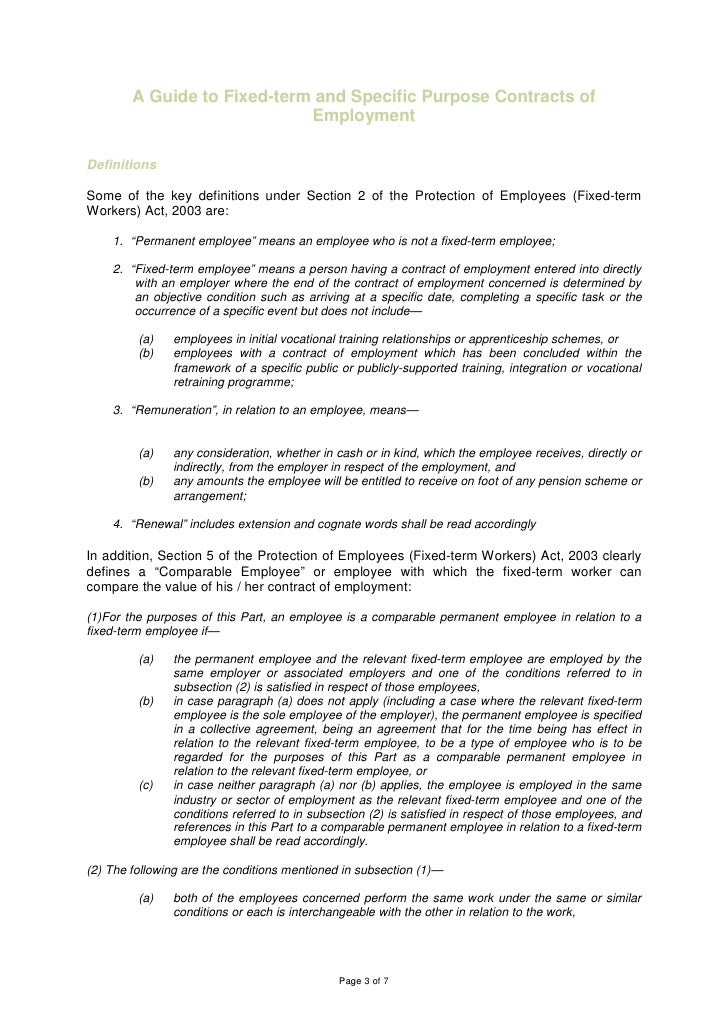 Temporary contract of employment for Permanent contract of employment template