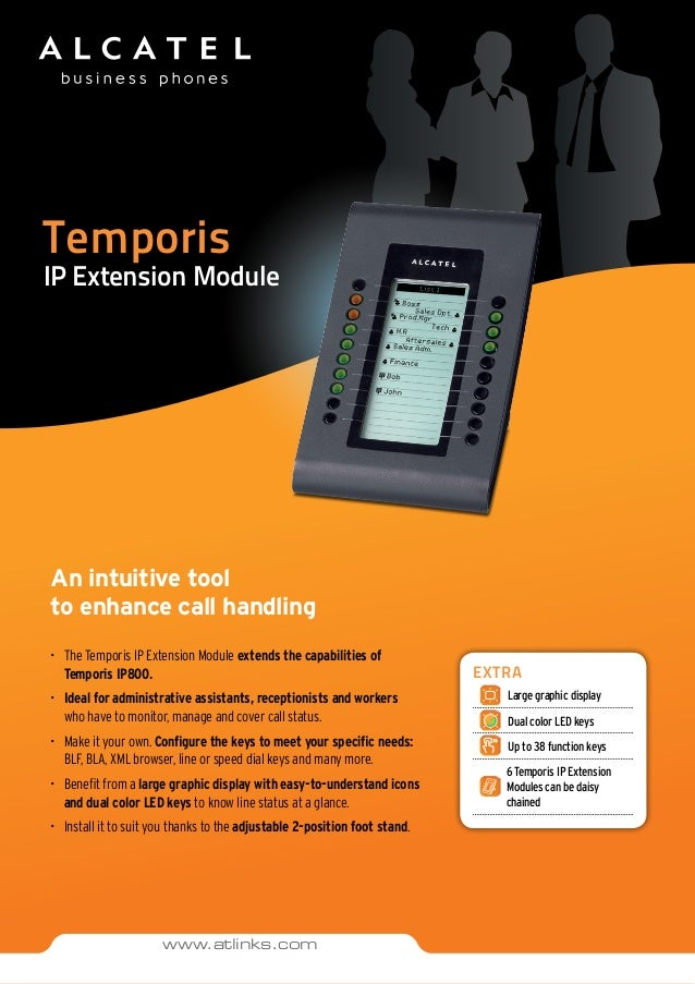 Temporis IP Extension Module An intuitive tool to enhance call handling •	 The Temporis IP Extension Module extends the ca...