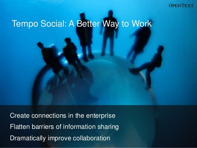 Tempo Social: A Better Way to WorkCreate connections in the enterpriseFlatten barriers of information sharingDramatically ...