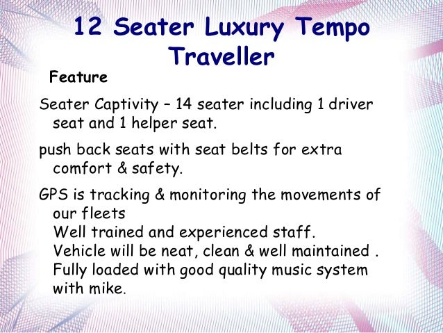 Rent A Tempo Traveller In Best Cost
