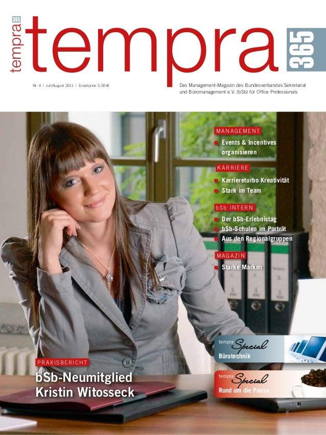 Das Management-Magazin des Bundesverbandes Sekretariat und Büromanagement e.V. (bSb) für Office Professionals Nr. 4 | J...