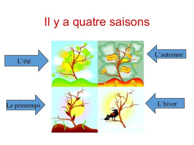 Il y a quatre saisons L'été L'automne Le printemps L'hiver