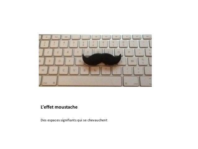 L'effet moustache Des espaces signifiants qui se chevauchent