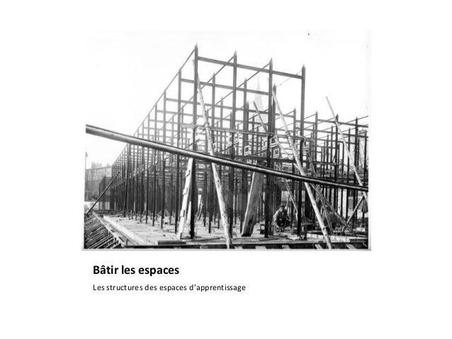 Bâtir les espaces Les structures des espaces d'apprentissage