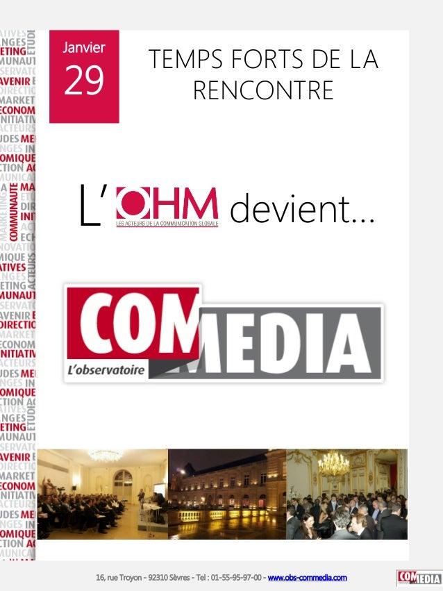 Janvier                    TEMPS FORTS DE LA29                     RENCONTRE  L'                                        de...