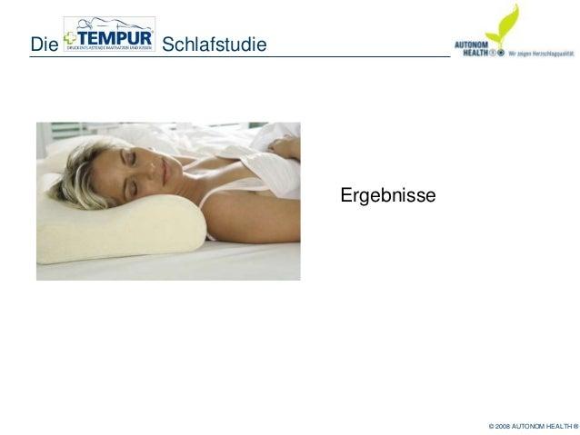 Tempur schlafstudie Slide 2