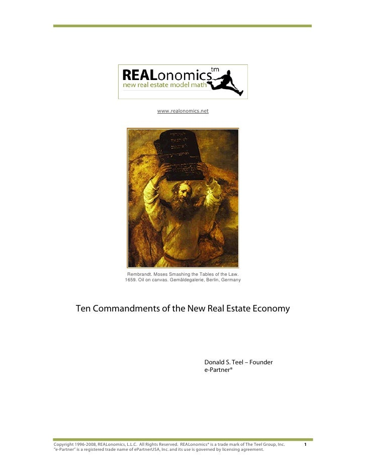 www.realonomics.net                                         Rembrandt. Moses Smashing the Tables of the Law.              ...