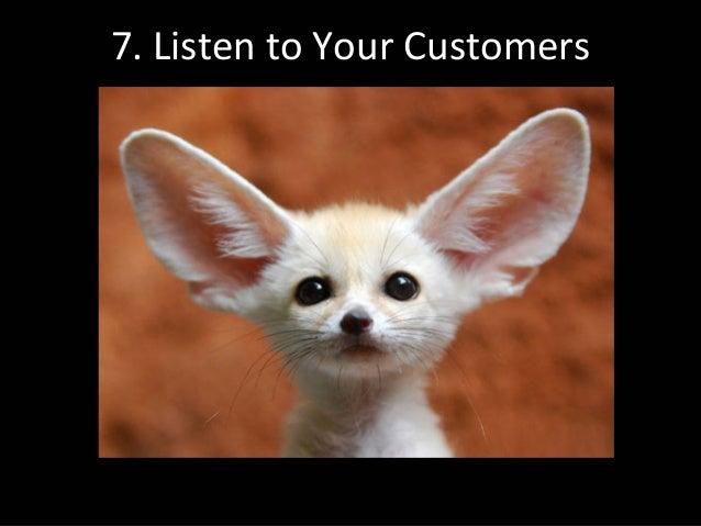 7.ListentoYourCustomers