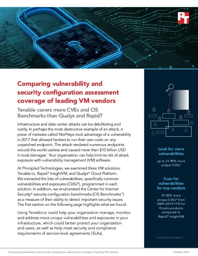 Comparing vulnerability and security configuration assessment coverage of leading VM vendors Tenable covers more CVEs and ...