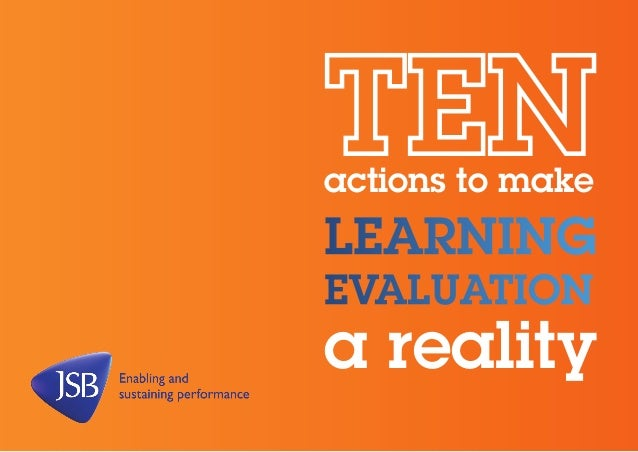 actions to make  learning evaluation  a reality
