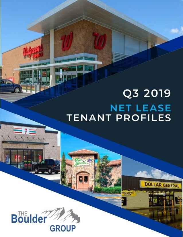 Q3 2019 NET LEASE TENANT PROFILES