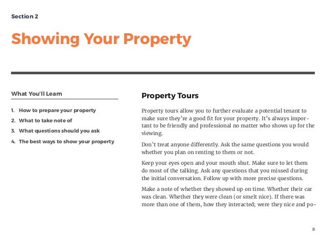 What You'll Learn 1. How to prepare your property 2. What to take note of 3. What questions should you ask 4. The best way...
