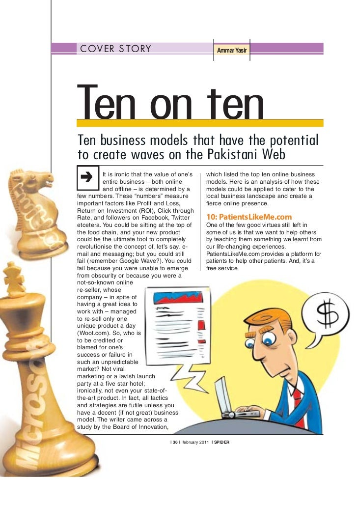 C OV E R S TO RY                                          Ammar YasirTen on tenTen business models that have the potential...