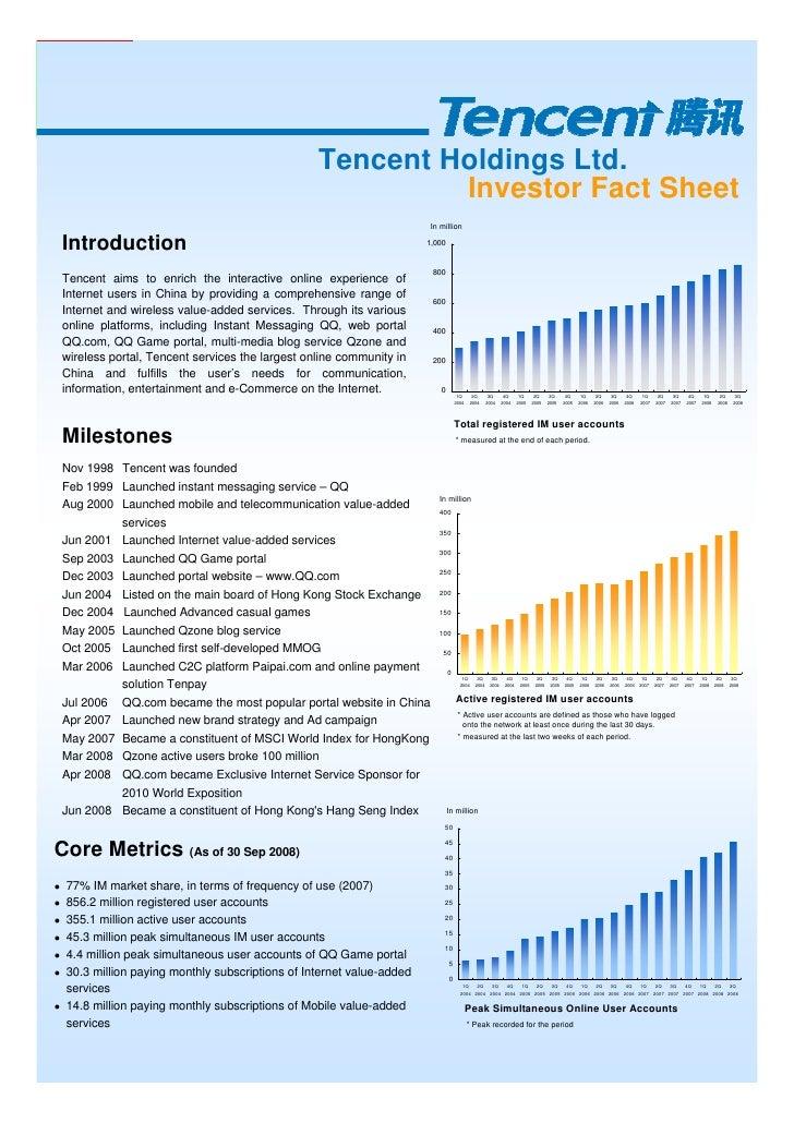Tencent Holdings Ltd.                                                           Investor Fact Sheet                       ...