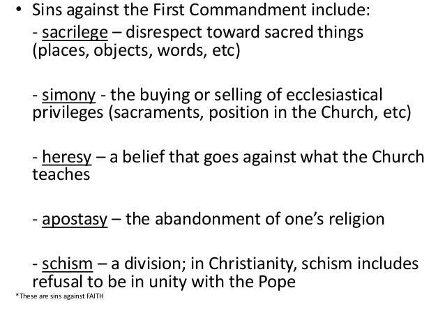 Ten commandments - First Commandment GRADE 8