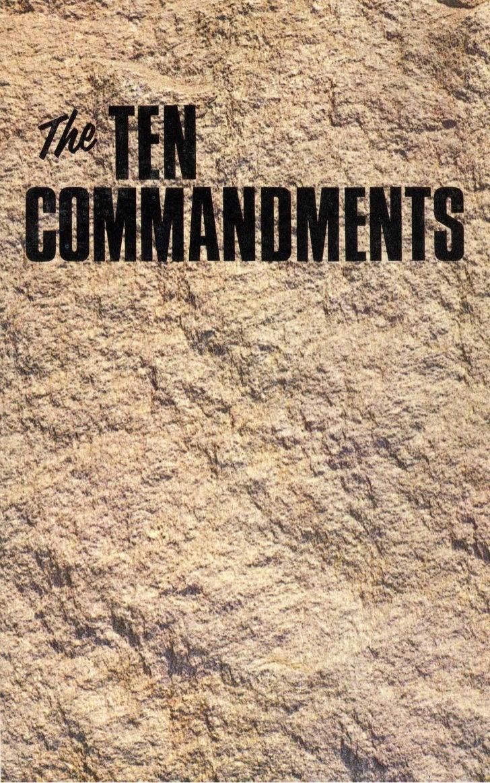 Ten commandments (prelim 1972)