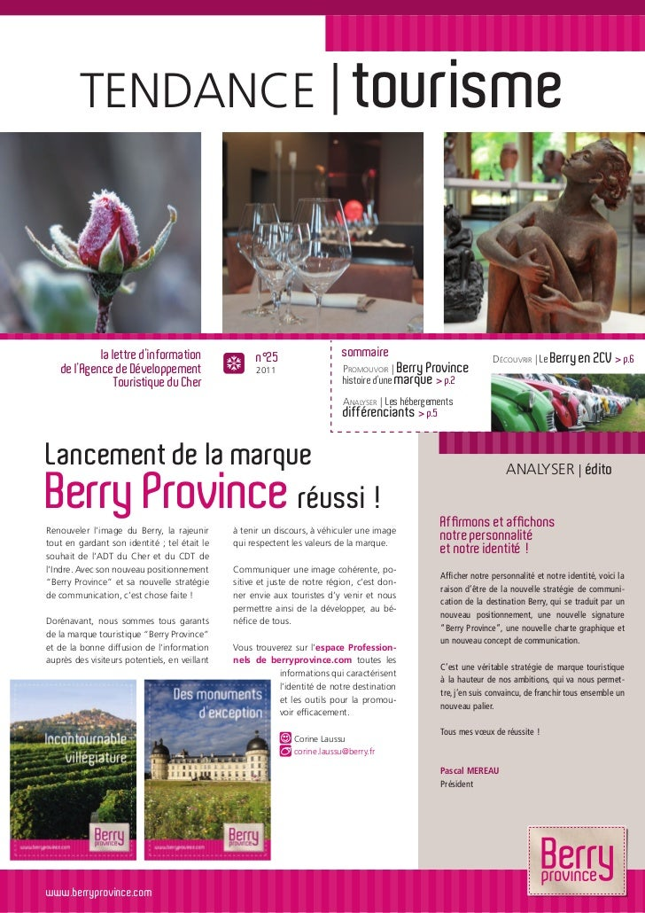 TENDANCE | tourisme             la lettre d'information                 n°25                  sommaire                    ...