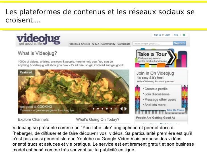 """Les plateformes de contenus et les réseaux sociaux se croisent…. VideoJug se présente comme un """"YouTube Like"""" an..."""