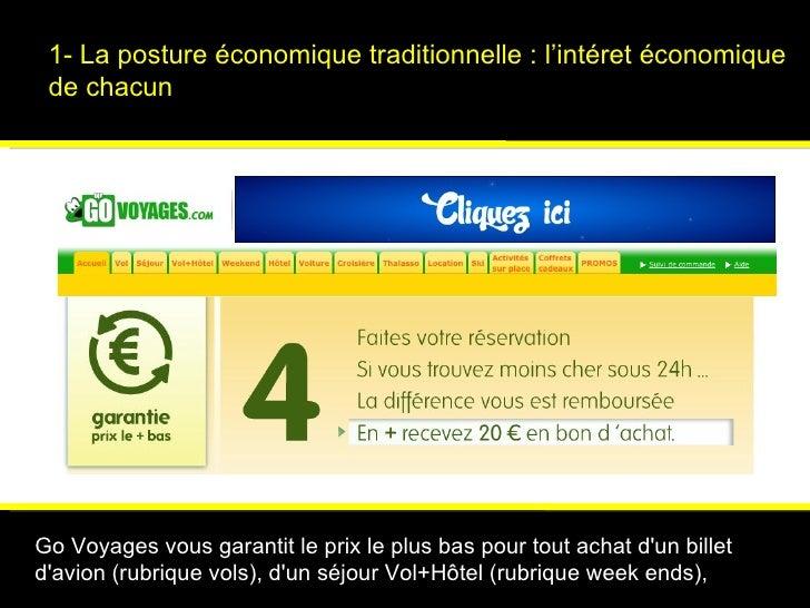 1- La posture économique traditionnelle : l'intéret économique de chacun Psychologies magazine   Go Voyages vous garantit ...