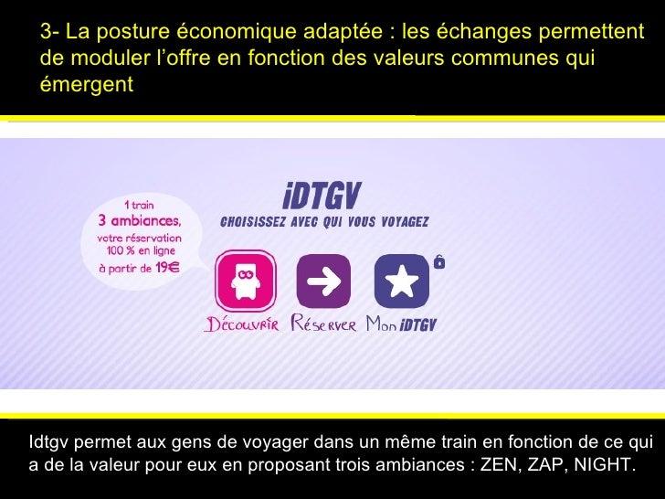 3- La posture économique adaptée : les échanges permettent de moduler l'offre en fonction des valeurs communes qui émergen...