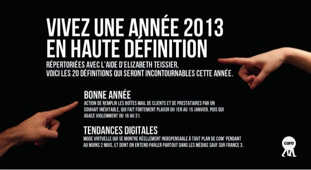 Tendances digitales 2013 by Care
