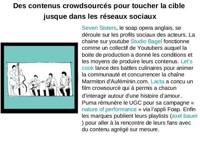 Des contenus crowdsourcés pour toucher la ciblejusque dans les réseaux sociauxSeven Sisters, le soap opera anglais, sedéro...