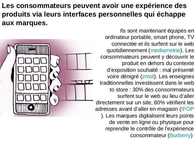 Les consommateurs peuvent avoir une expérience desproduits via leurs interfaces personnelles qui échappeaux marques.Ils so...