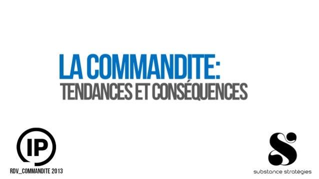 La commandite: Tendances et conséquences