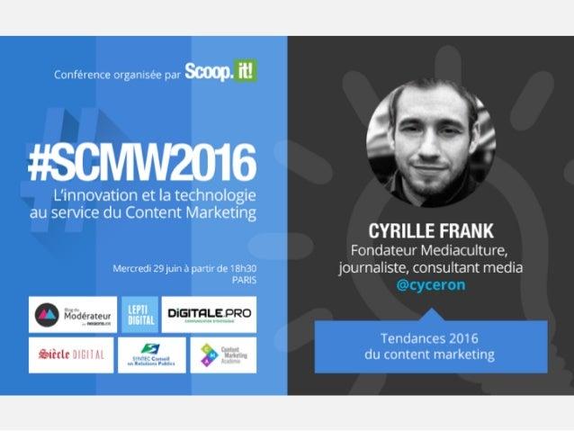 @cyceron Nom Cyrille FRANK Email cfrank@mediaculture.fr Web www.mediaculture.fr Social Media @cyceron Cyrille Frank mediac...
