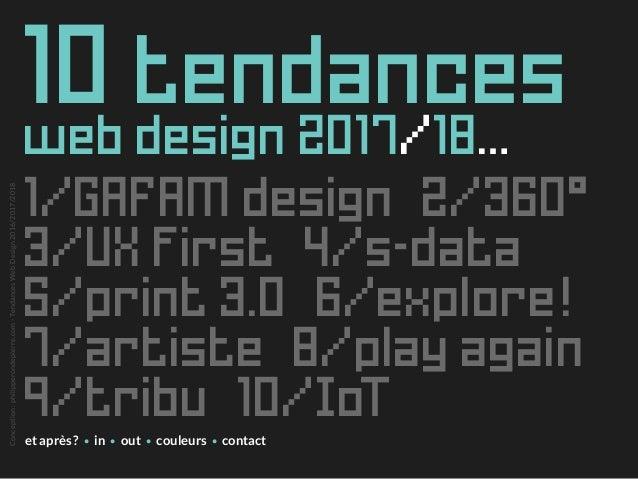 Tendances Web Design 2017/2018 Slide 3