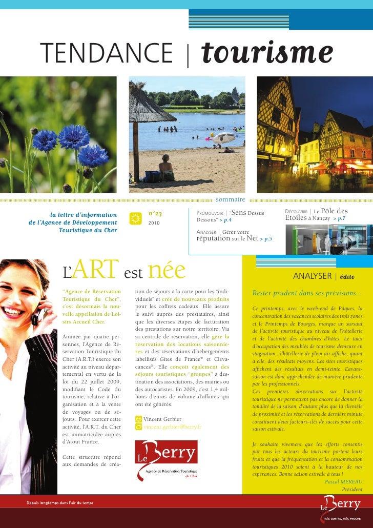 TENDANCE | tourisme                                                                                sommaire               ...