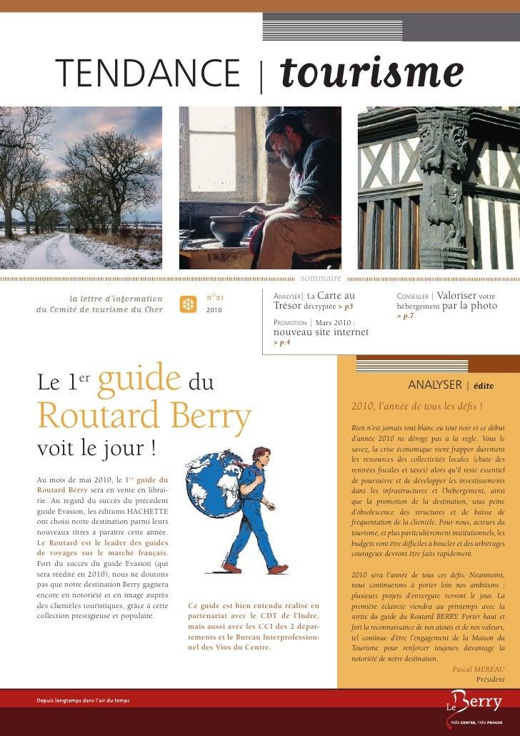 TENDANCE | tourisme                                                                                 sommaire        la let...