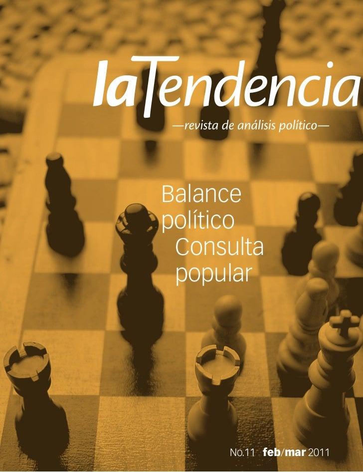 Balancepolítico Consulta popular     No.11 feb/mar 2011