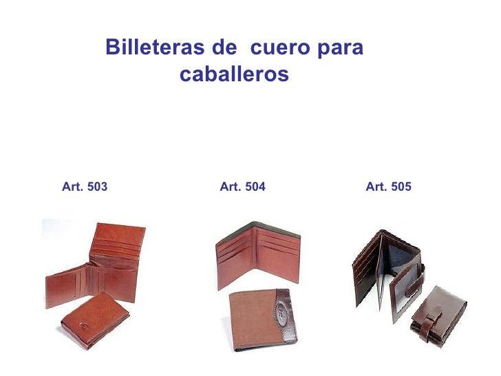 Billeteras de  cuero para caballeros Art. 503 Art. 504 Art. 505