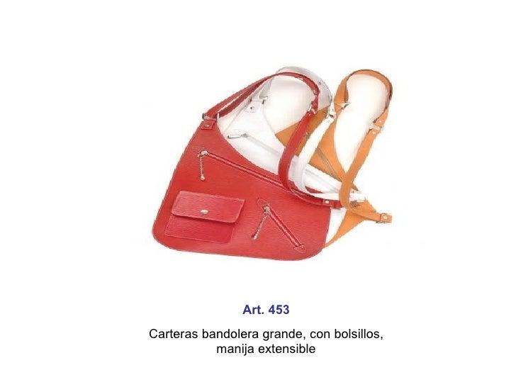 Art. 453 Carteras bandolera grande, con bolsillos, manija extensible