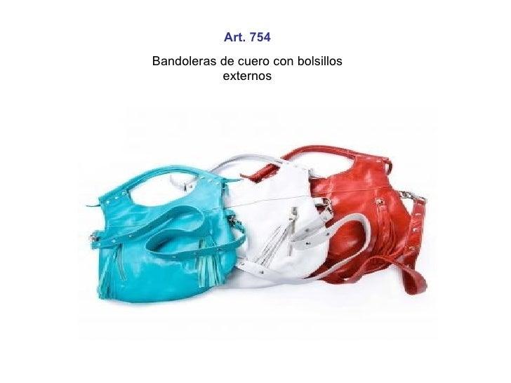Art. 754 Bandoleras de cuero con bolsillos externos