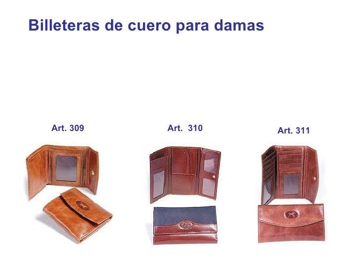 Billeteras de cuero para damas   Art. 309 Art.  310 Art. 311