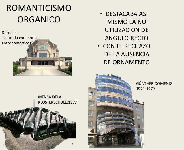 Tendencias de la arquitectura contemporanea Romanticismo arquitectura