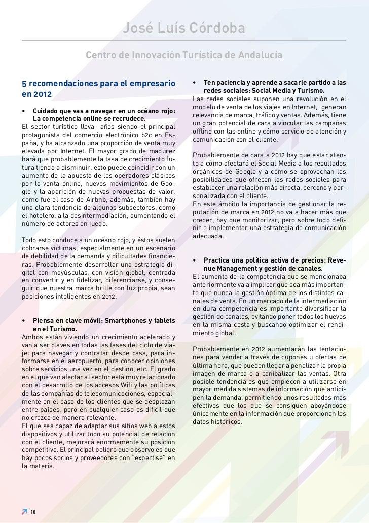 José Luís Córdoba                     Centro de Innovación Turística de Andalucía5 recomendaciones para el empresario     ...