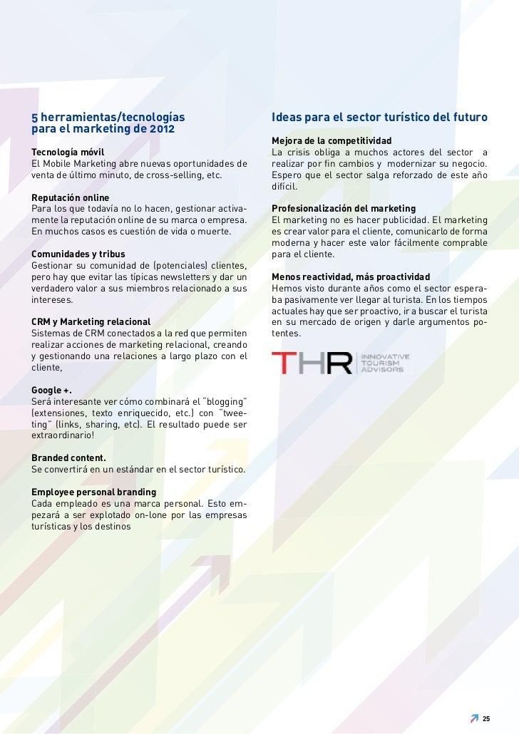 5 herramientas/tecnologías                             Ideas para el sector turístico del futuropara el marketing de 2012 ...