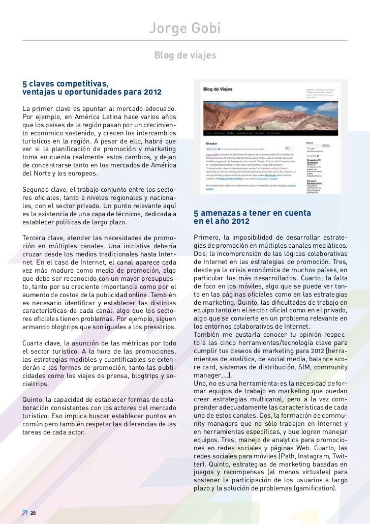 Jorge Gobi                                            Blog de viajes5 claves competitivas,ventajas u oportunidades para 20...
