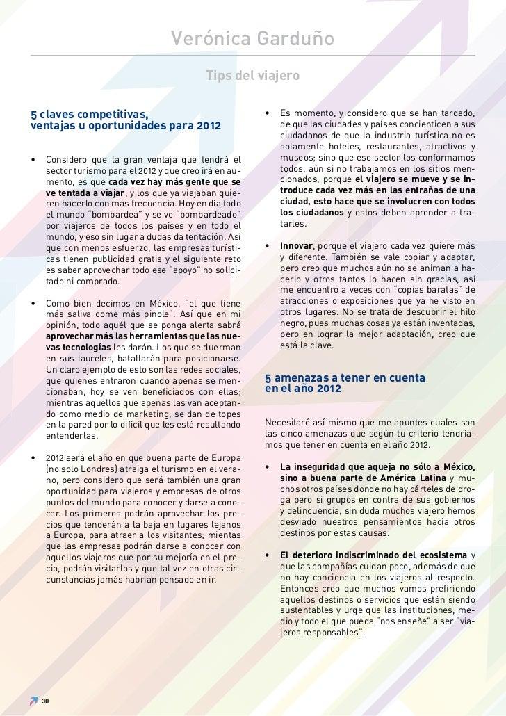 Verónica Garduño                                              Tips del viajero5 claves competitivas,                      ...