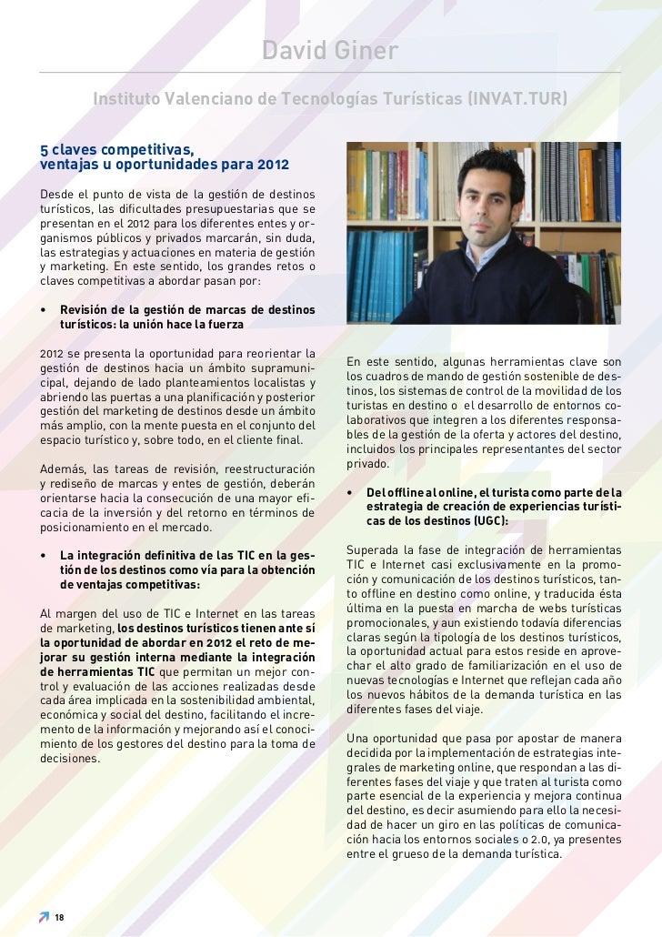 David Giner           Instituto Valenciano de Tecnologías Turísticas (INVAT.TUR)5 claves competitivas,ventajas u oportunid...