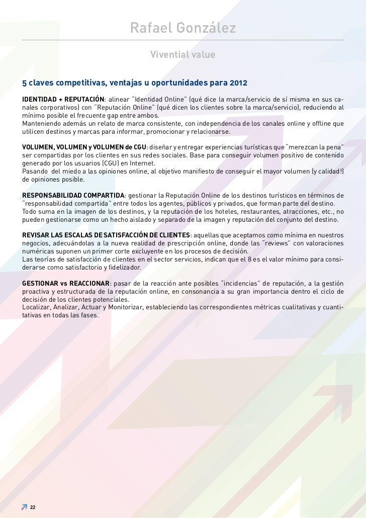 Rafael González                                            Vivential value5 claves competitivas, ventajas u oportunidades ...