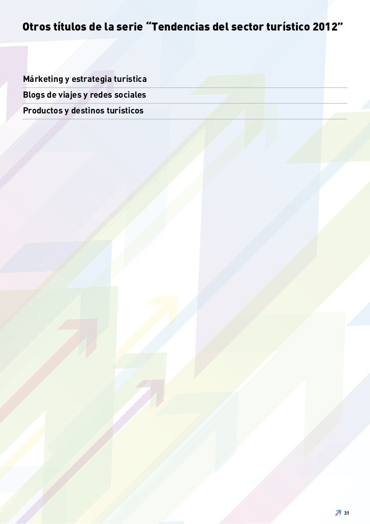 """Otros títulos de la serie """"Tendencias del sector turístico 2012""""Márketing y estrategia turísticaBlogs de viajes y redes so..."""