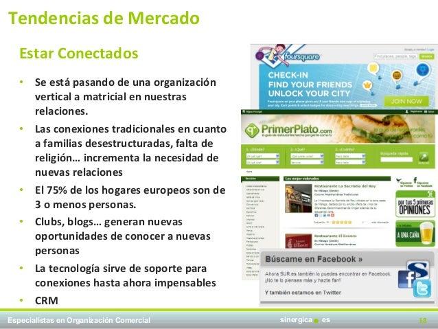 Tendencias de Mercado   Estar Conectados   • Se está pasando de una organización     vertical a matricial en nuestras     ...
