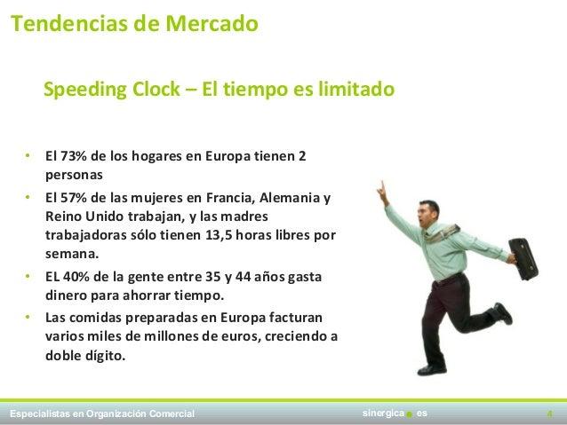 Tendencias de Mercado       Speeding Clock – El tiempo es limitado   • El 73% de los hogares en Europa tienen 2     person...