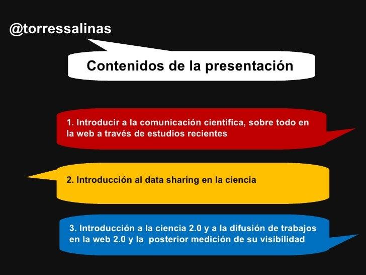 Tendencias en comunicación científica en La Web. Una Introducción al Data Sharing y la ciencia 2.0 Slide 2
