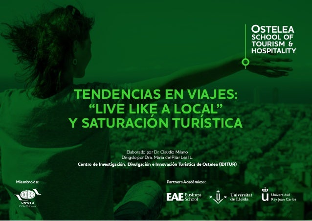"Tendencias en viajes:""Live like a local"" y saturación turística 1 TENDENCIAS EN VIAJES: ""LIVE LIKE A LOCAL"" Y SATURACIÓN T..."